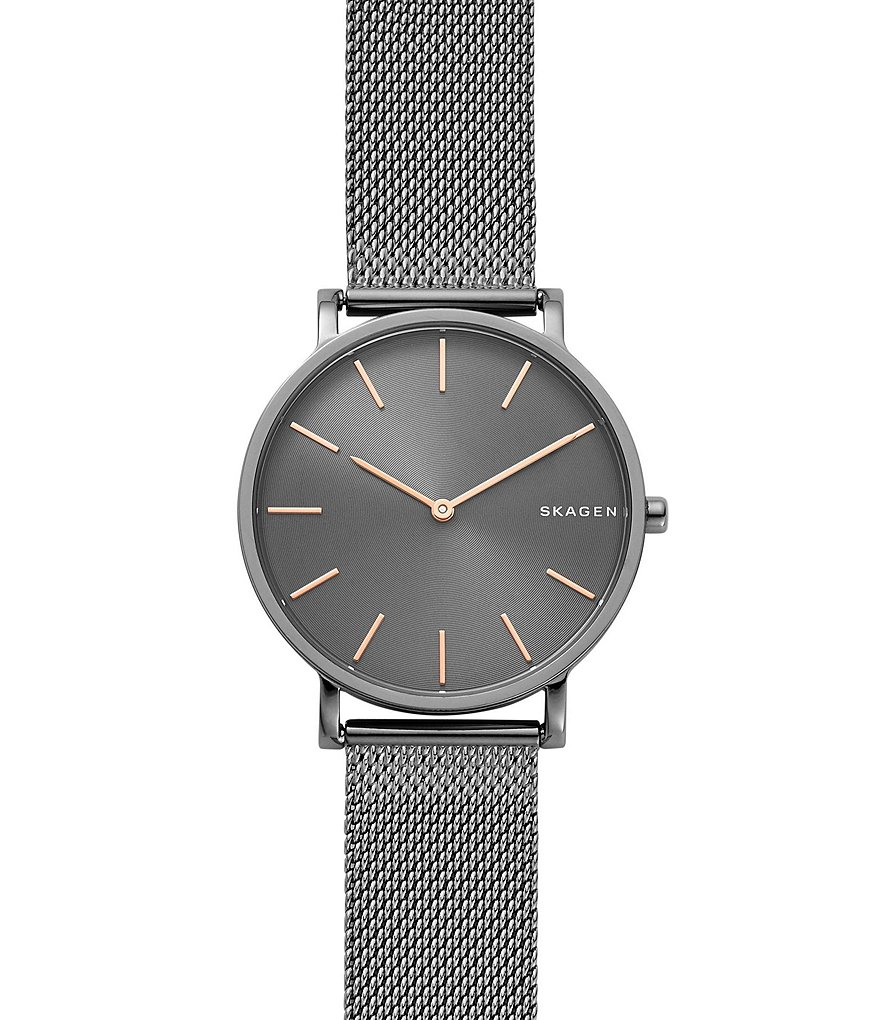 Skagen Hagen Gunmetal Mesh Watch