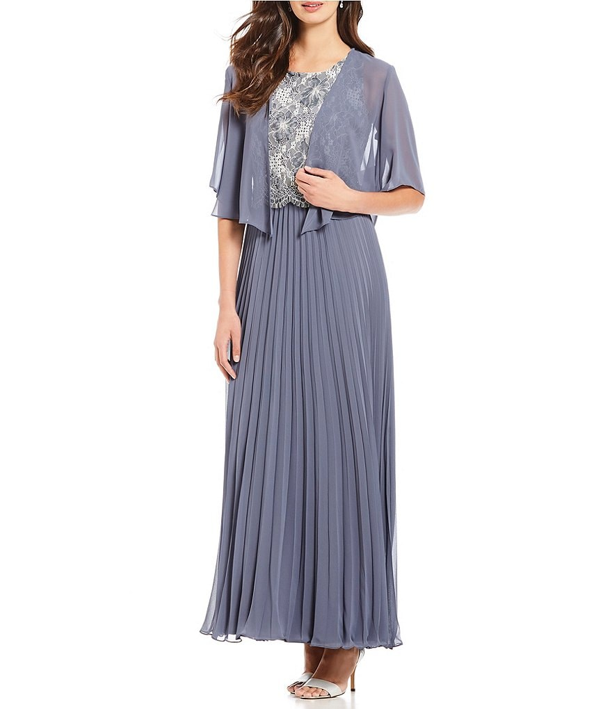 S.L. Fashions 2-Piece Pleated Jacket Dress