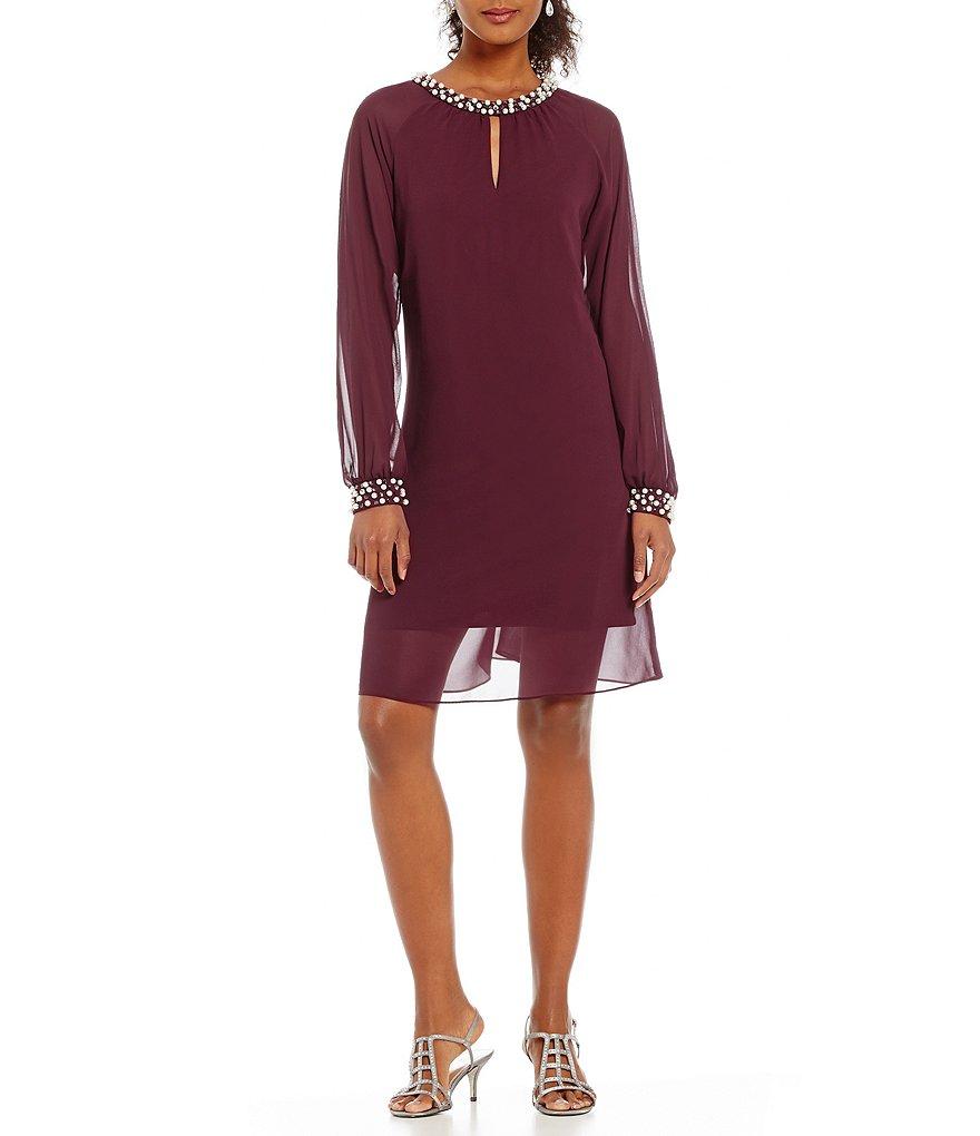 Sl sl fashion dresses - S L Fashions Bead Cuff Shift Dress