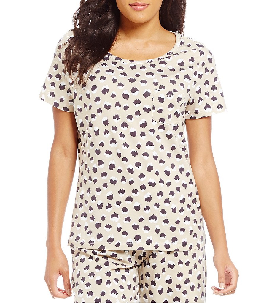 Sleep Sense Leopard-Print Sleep Top