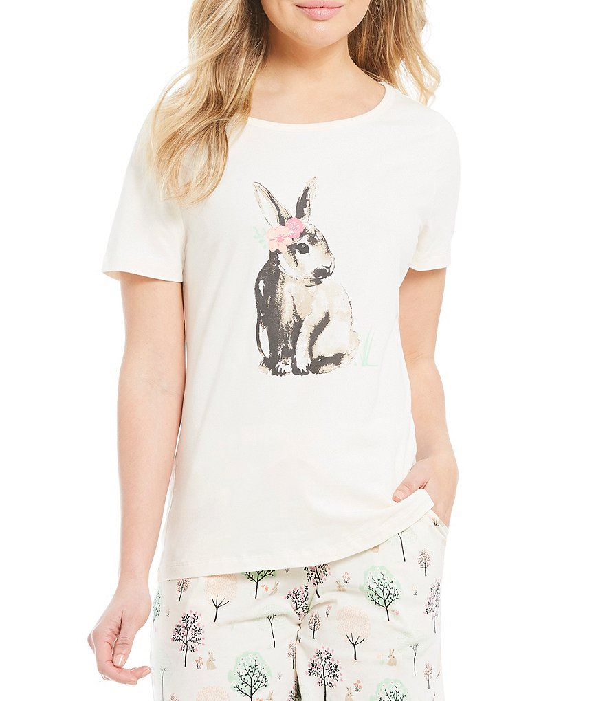 Sleep Sense Bunny Screen Print Sleep Tee