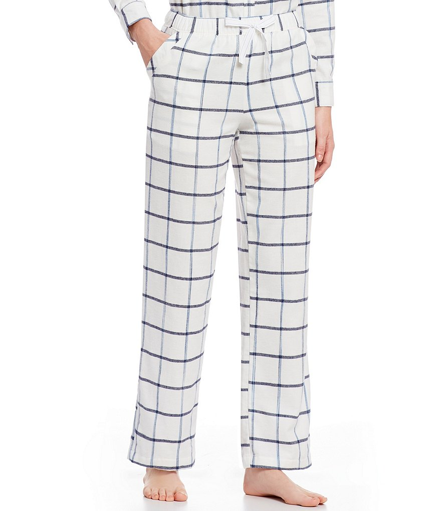 Sleep Sense Kathryn Plaid Portuguese Flannel Sleep Pants