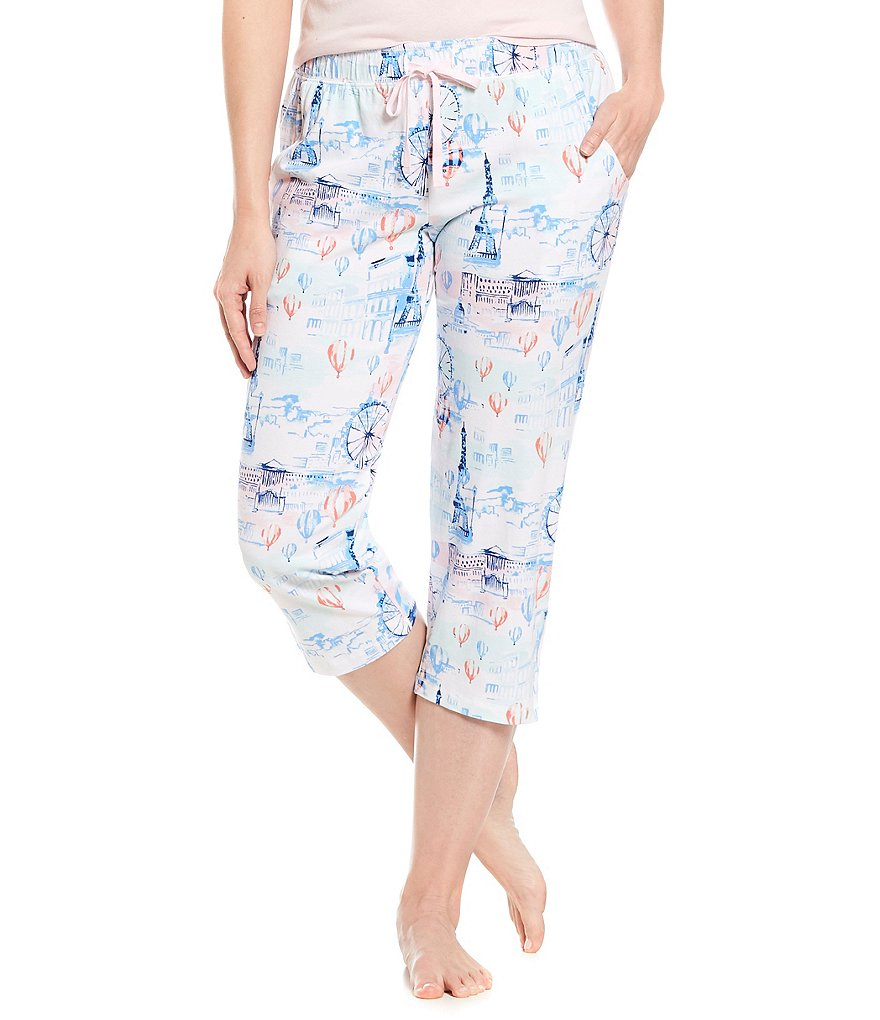 Sleep Sense Paris-Printed Capri Sleep Pants