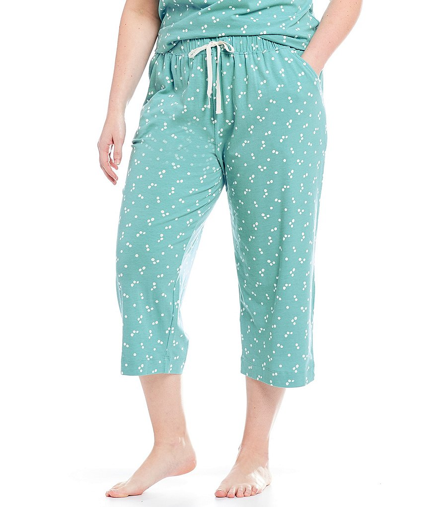 Sleep Sense Plus Dot-Print Capri Sleep Pants