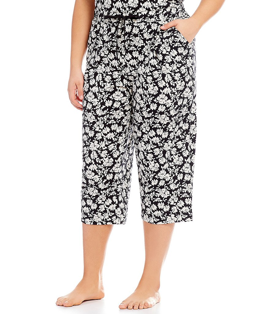 Sleep Sense Plus Floral & Gingham Print Capri Sleep Pants