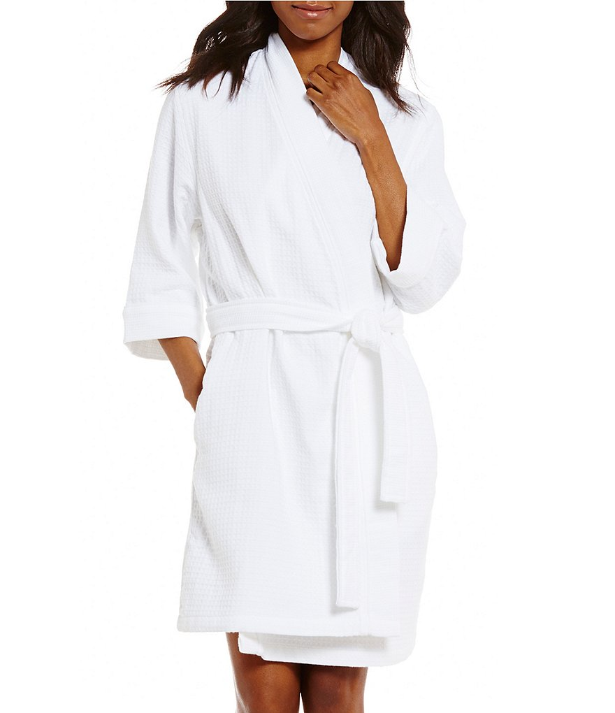 Spa Essentials by Sleep Sense Waffle-Knit Wrap Robe