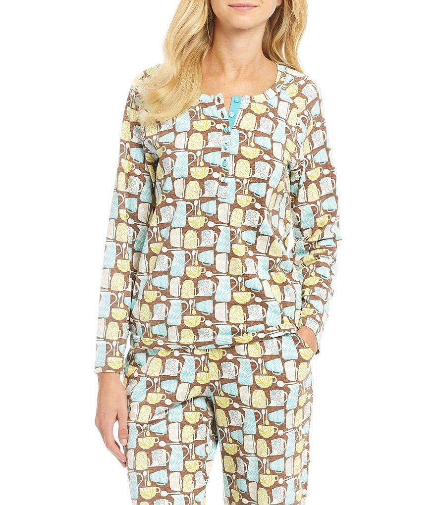 Sleep Sense Tea Cups Henley Sleep Top