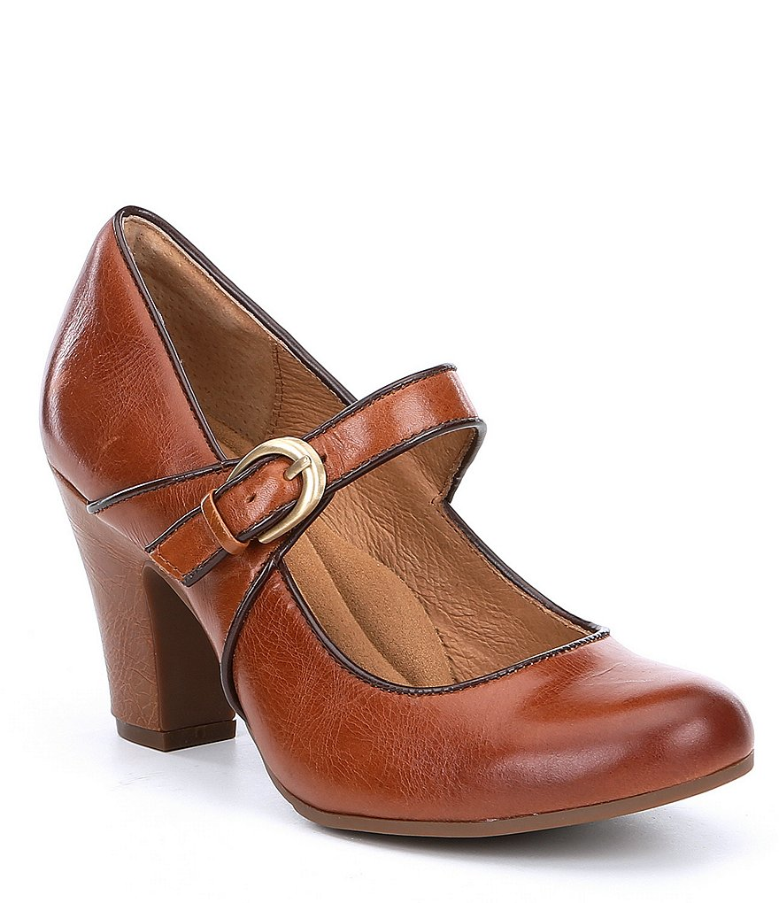 Sofft Miranda Leather Mary Jane Buckle
