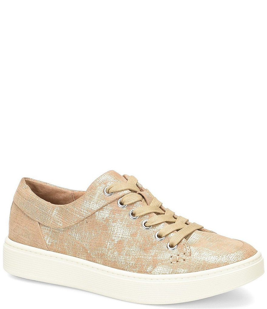 Sofft Sanders Distressed Metallic Suede Sneakers