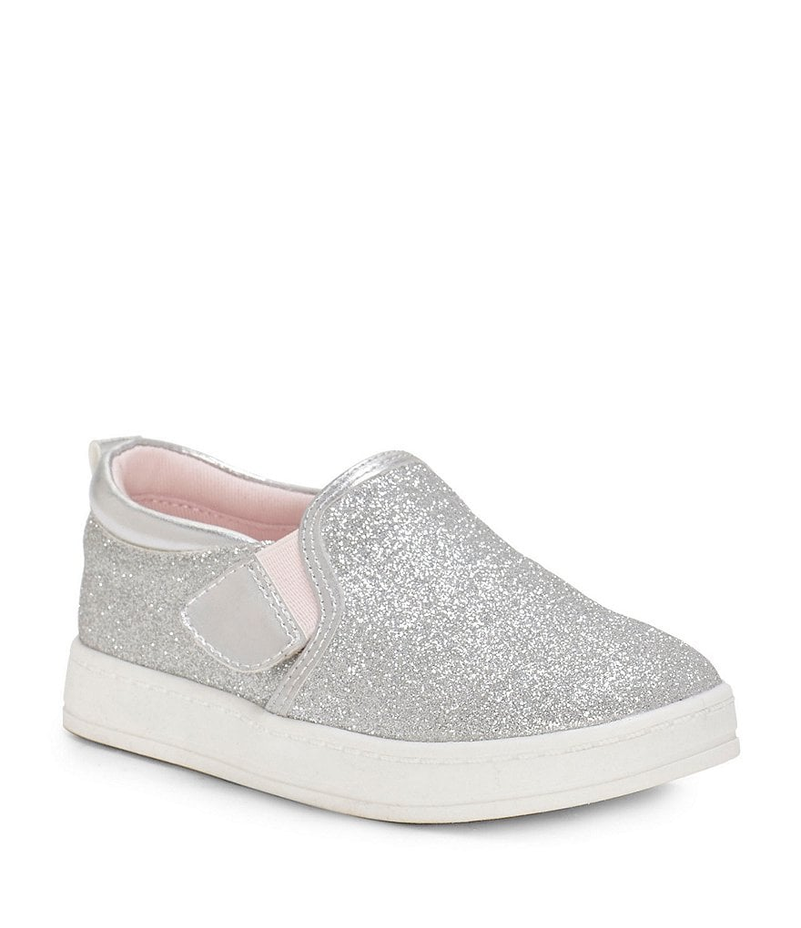 Sole Play Girls' Unso Double Gore Glitter Slip-On Sneakers