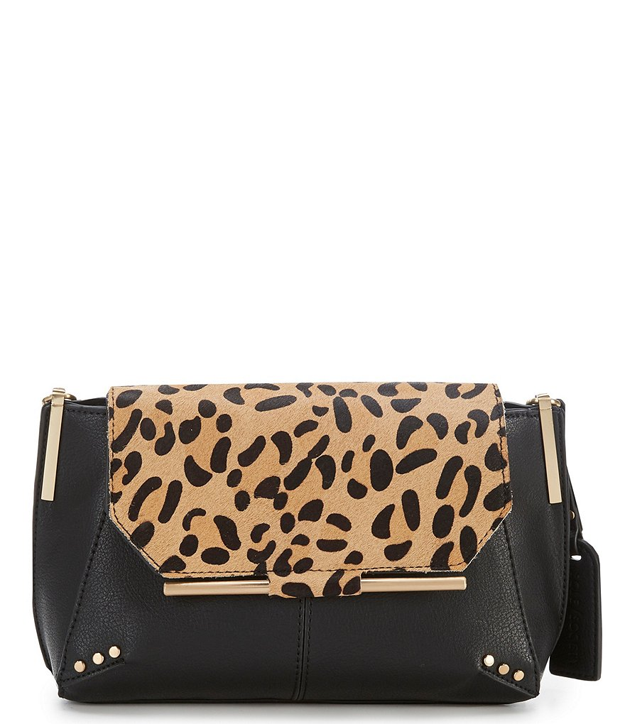 Sole Society Chusy Leopard Cross-Body Colorblock Bag