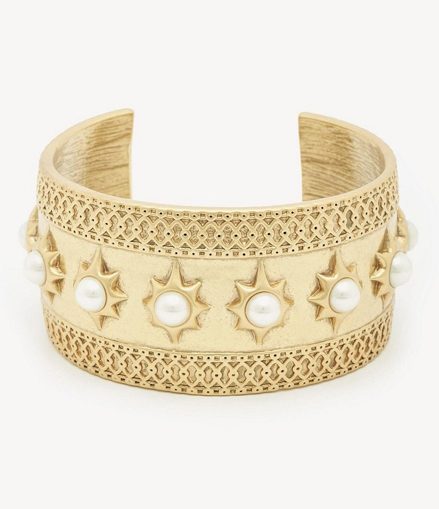 Sole Society Large Pearl Cuff Bracelet