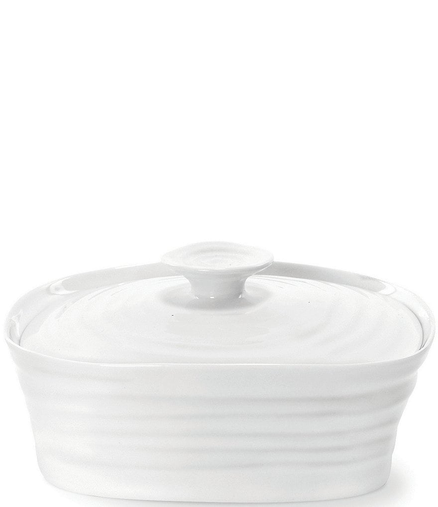 Sophie Conran for Portmeirion White Porcelain Covered Butter Dish