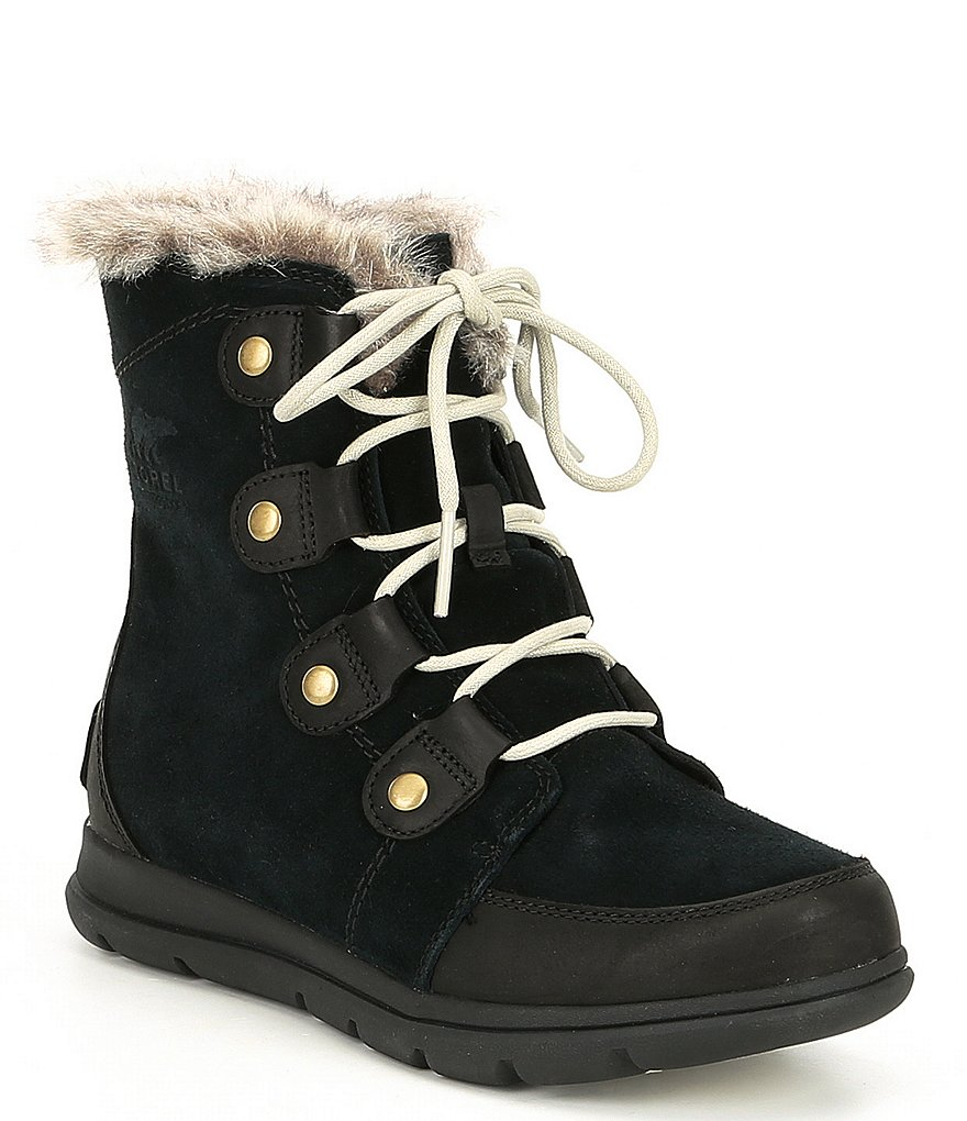 Sorel Explorer Joan Waterproof Faux Fur Lined Booties