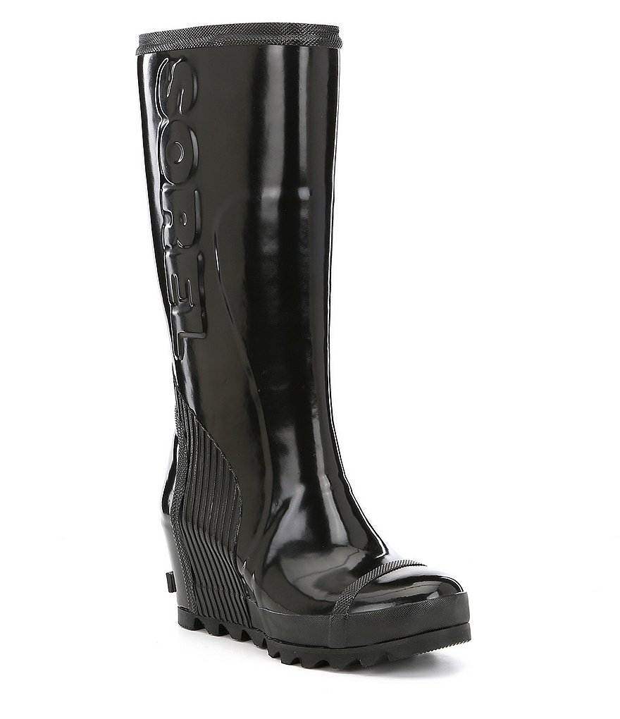 SOREL Joan Rain Wedge Tall Boots