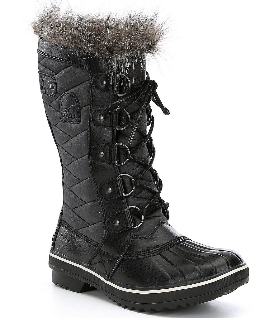 SOREL Women's Tofino II High Waterproof Cold Weather Faux Fur Block Heel Boots