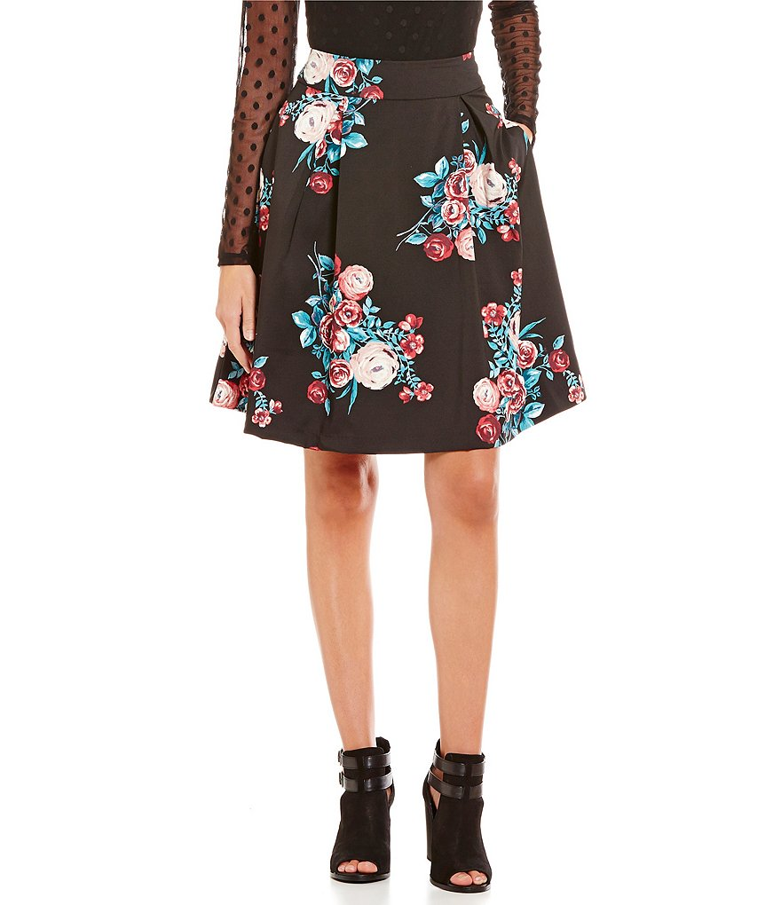 Soulmates High-Rise Floral-Printed Party Skirt