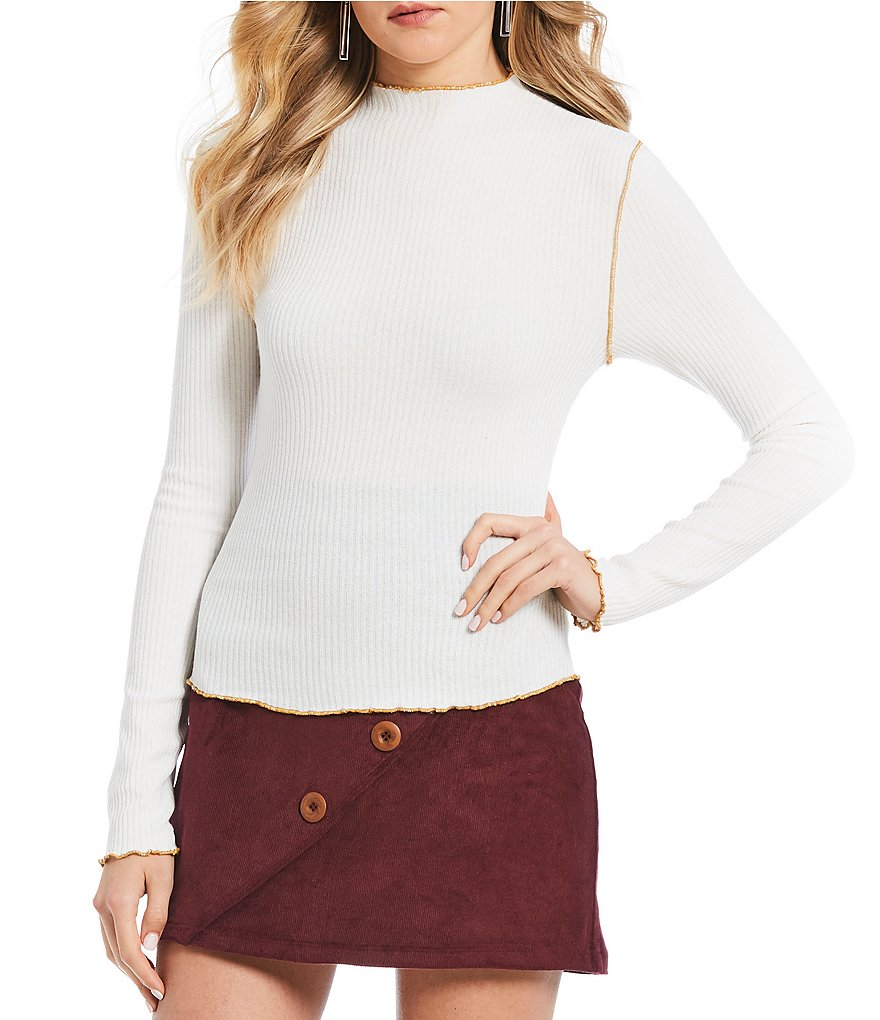 Soulmates Long-Sleeve Rib-Knit Tee