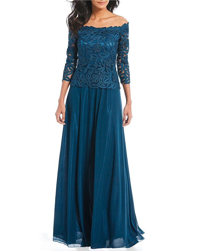 Soulmates Embroidered Lace Gown Dillard S