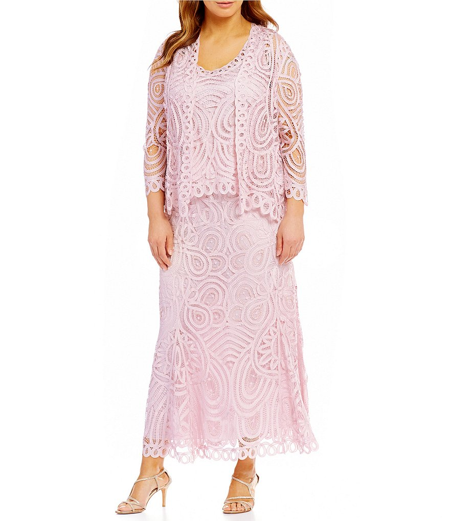 Soulmates Plus 3-Piece Embroidered Dress
