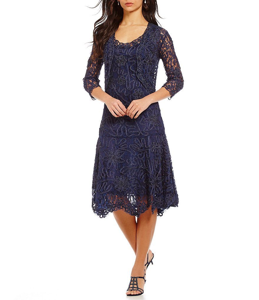 Soulmates Two Piece Baroque Lace Jacket Dress
