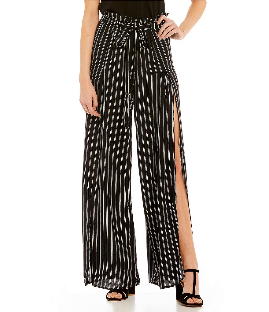 Soulmates Vertical-Stripe Tulip Pants