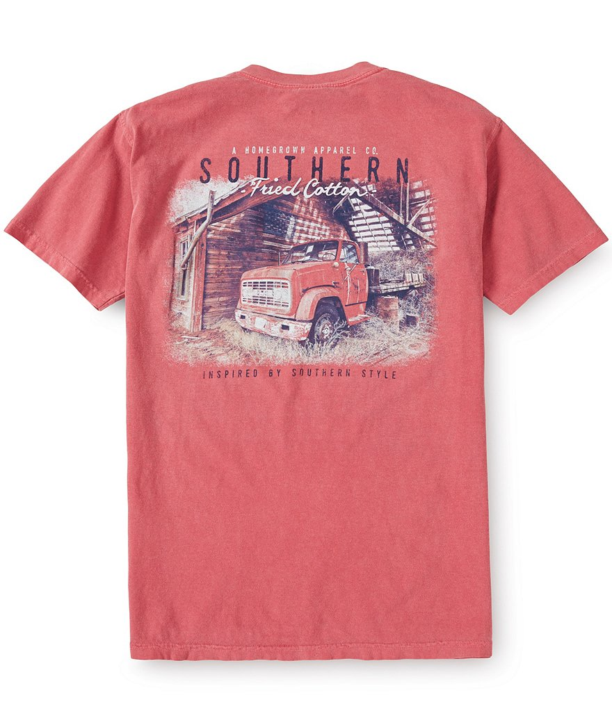 Southern Fried Cotton Mens Jimmy Pocket Graphic Tee