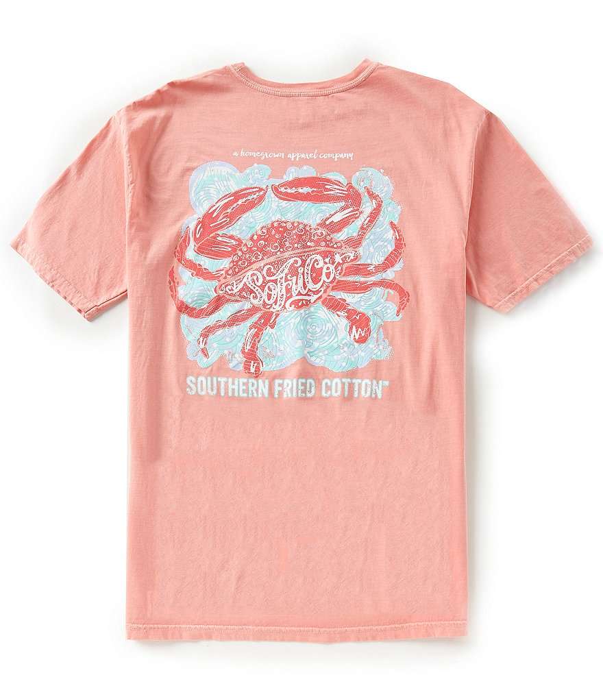 Southern Fried Cotton Mens Pinch of Salt Short-Sleeve Pocket Graphic Tee