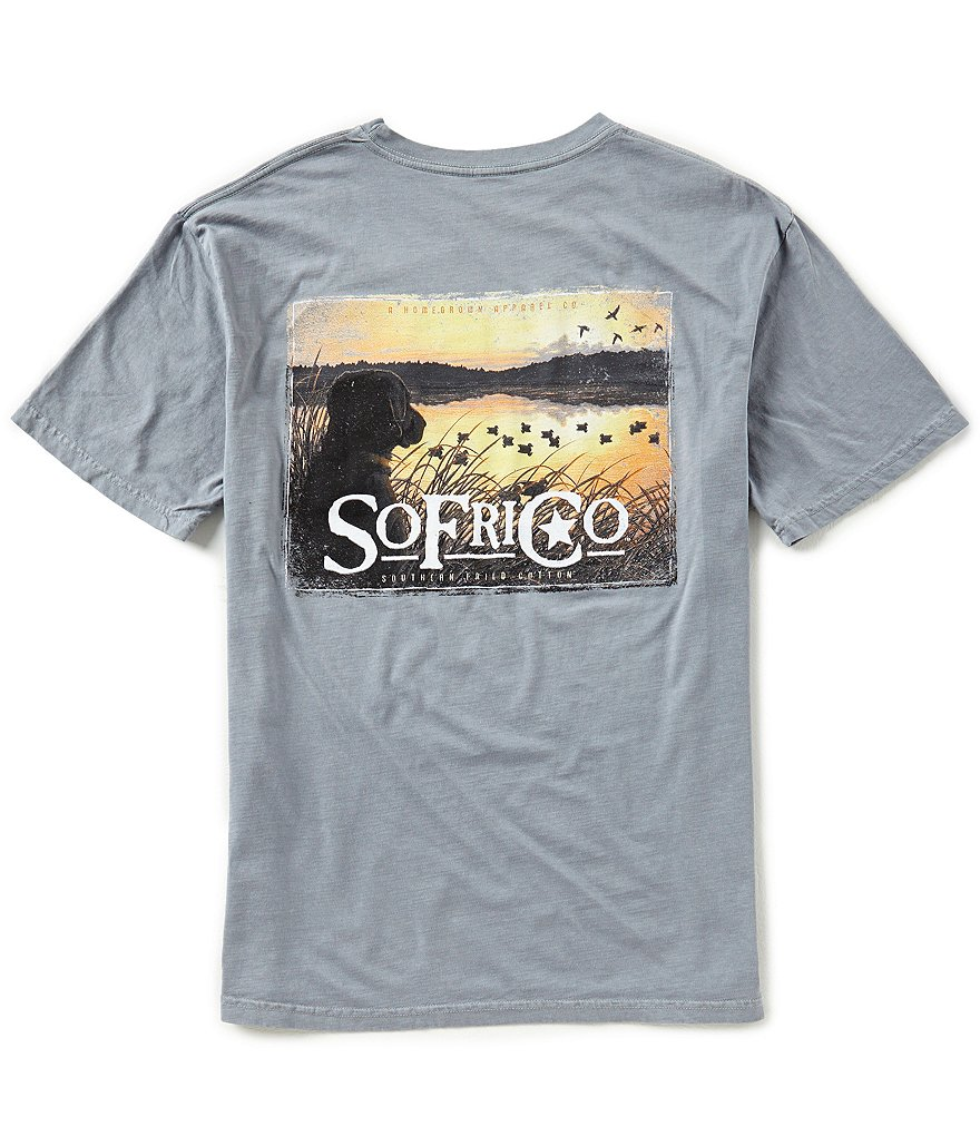 Southern Fried Cotton Men´s Sunrise in the Blind Short-Sleeve Pocket Graphic Tee