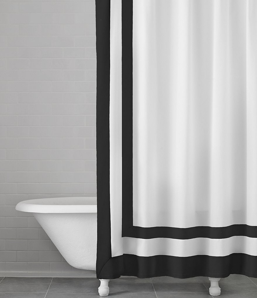 Southern Living Double Frame Cotton Shower Curtain Dillards
