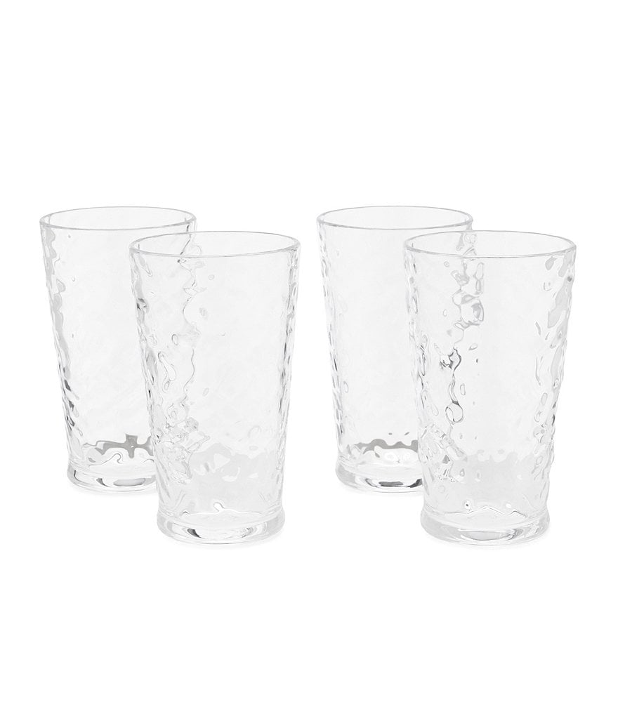 Southern Living Acrylic Valencia Textured Tumblers, Set of 4
