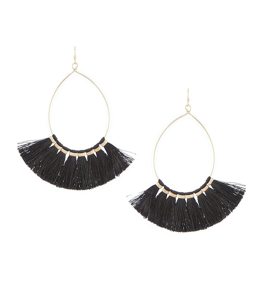 Southern Living Alden Fringe Hoop Earrings