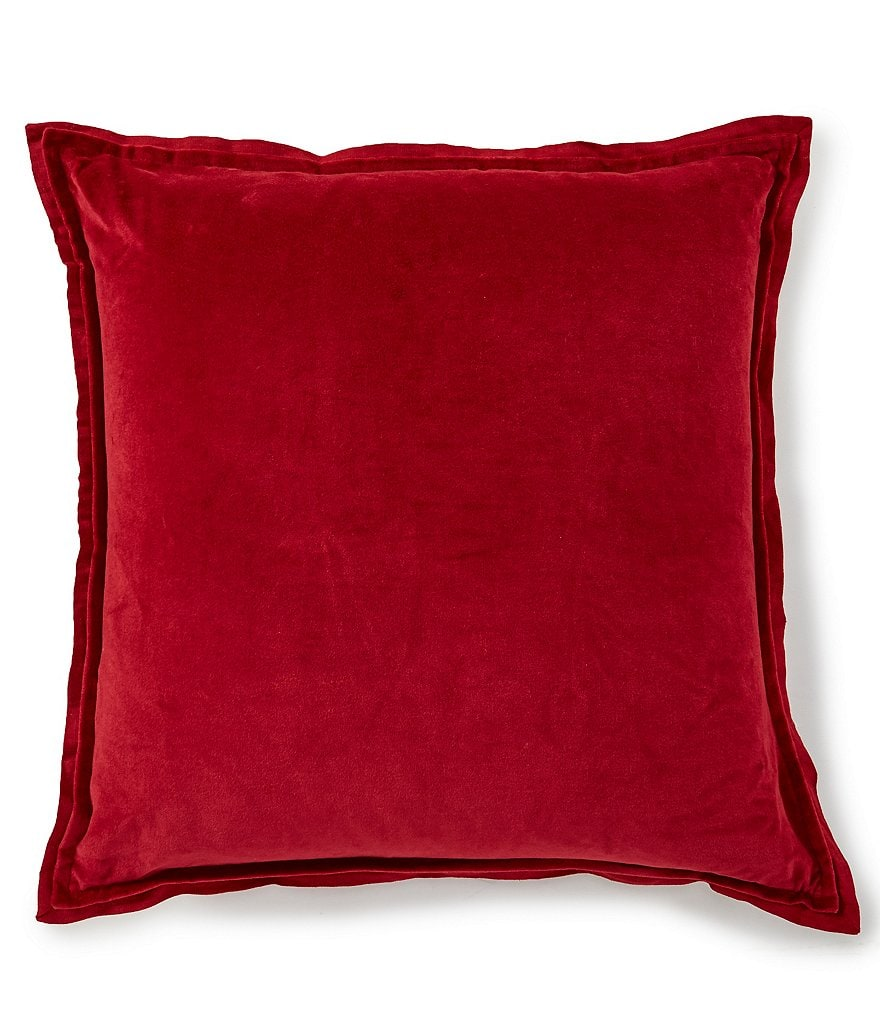 Southern Living Cozy Winter Collection Velvet & Linen Oversize Square Pillow