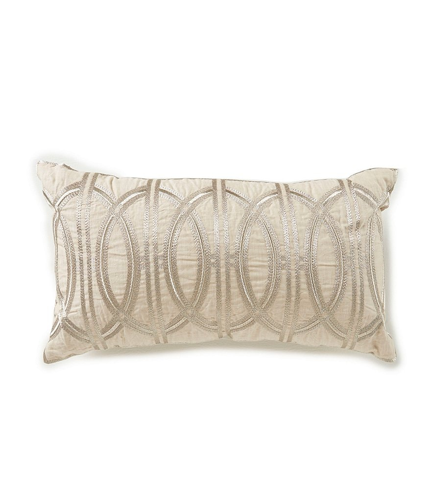Southern Living Embroidered Geometric Breakfast Pillow   Dillards