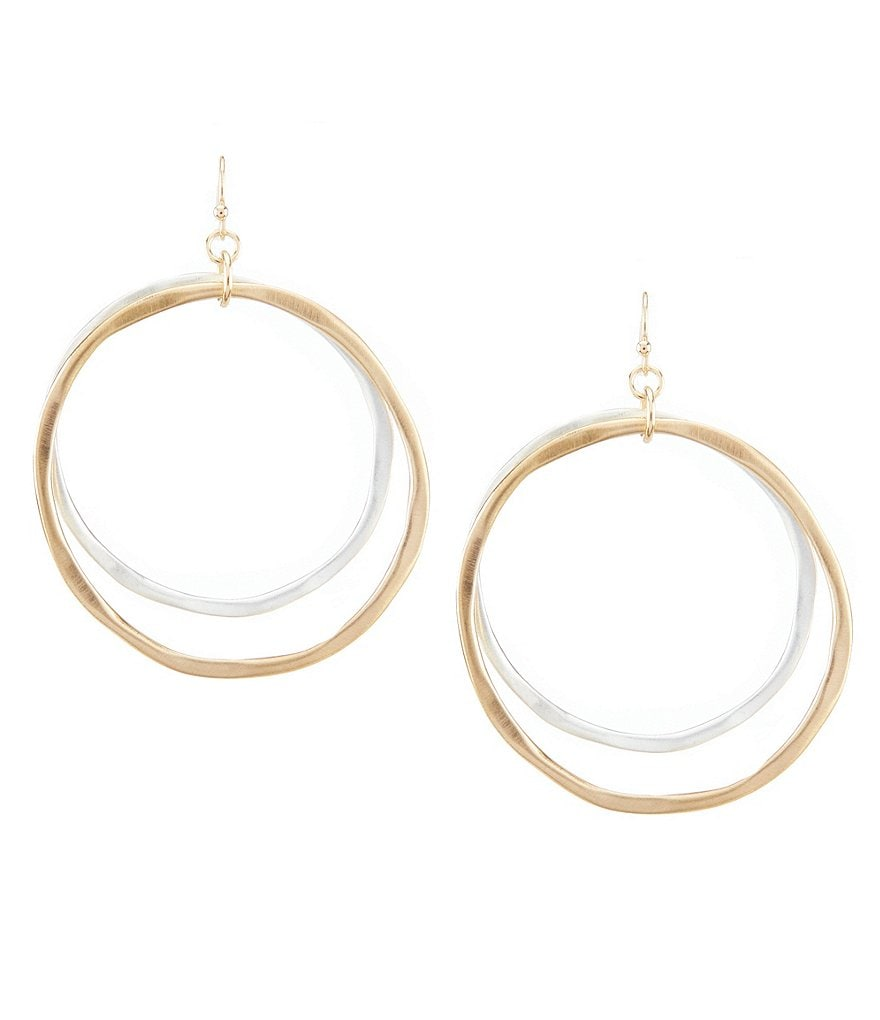Southern Living Gold Double Hoop Earrings
