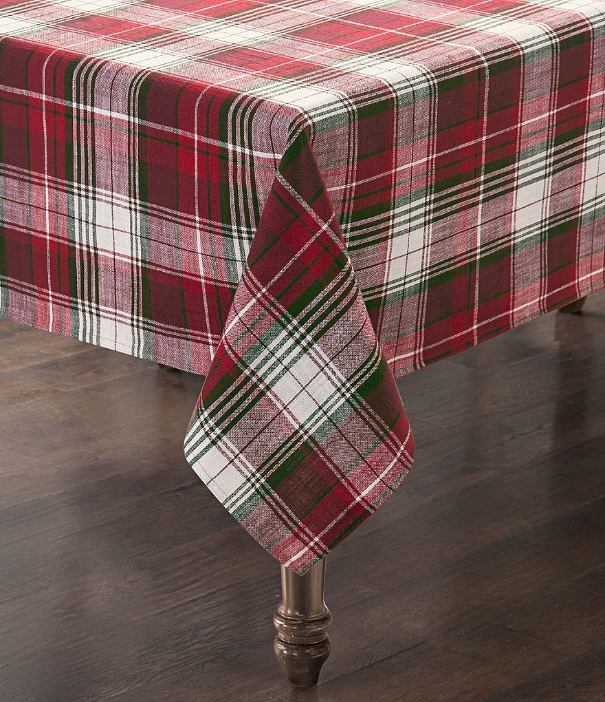 Southern Living Holiday Red Plaid Tablecloth