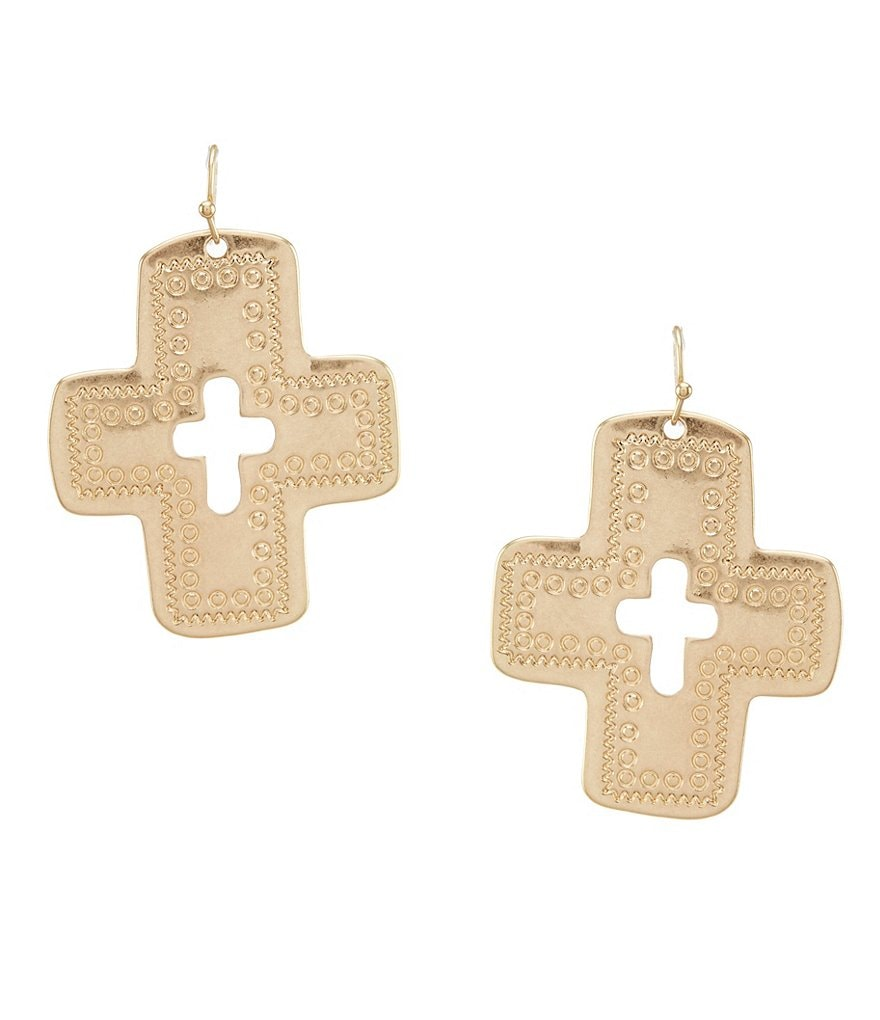 Southern Living Miranda Cutout Cross Earrings