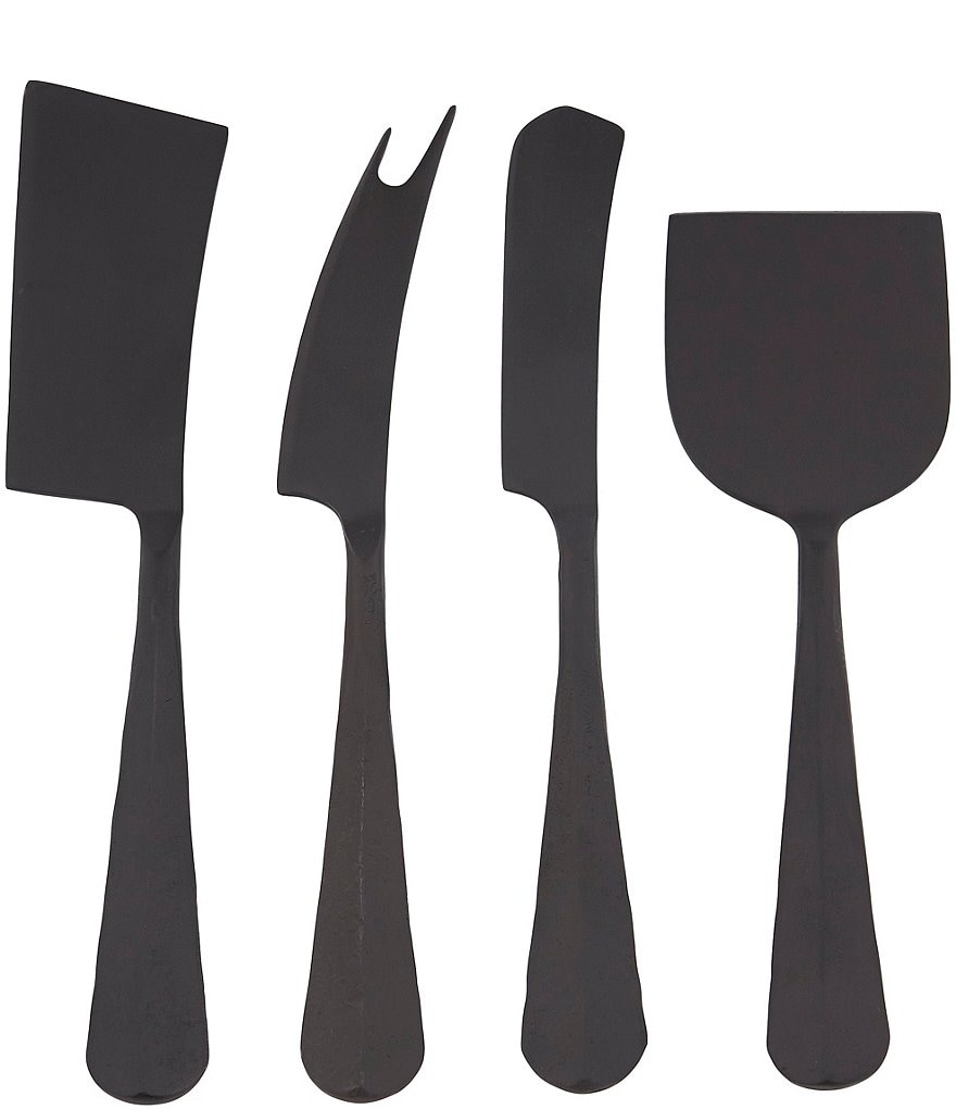 Southern Living New Slate Black Cheese Knives Set of 4