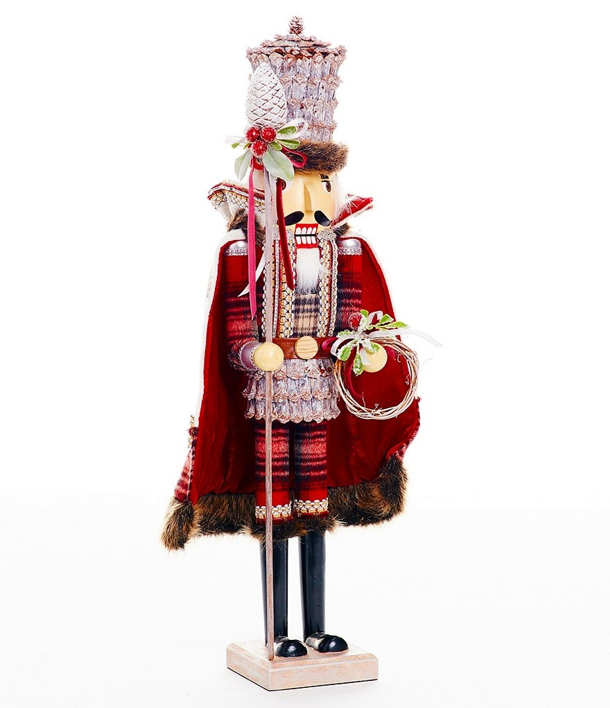 Southern Living Nostalgic Noel Collection Faux-Fur-Trimmed Nutcracker Figurine