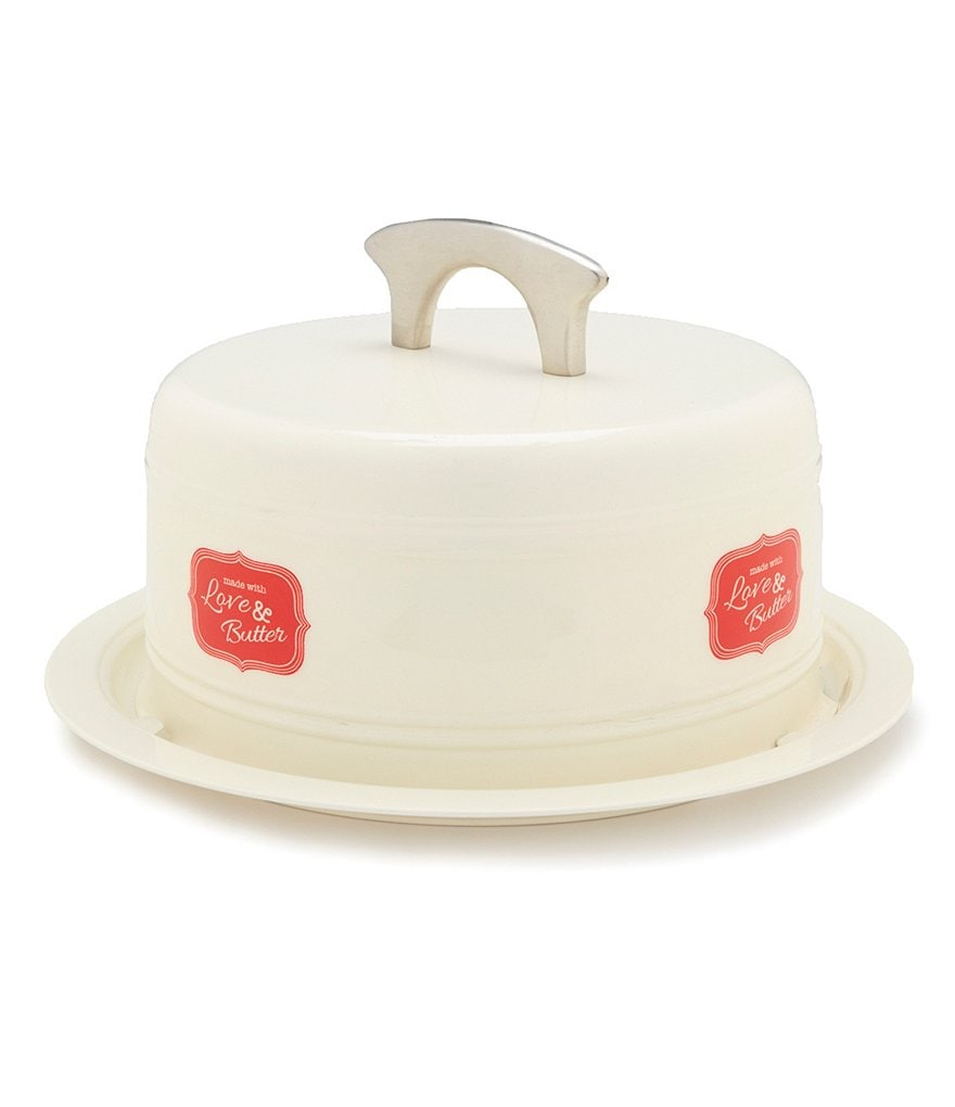 Southern Living Powder-Coated Metal Cake Carrier
