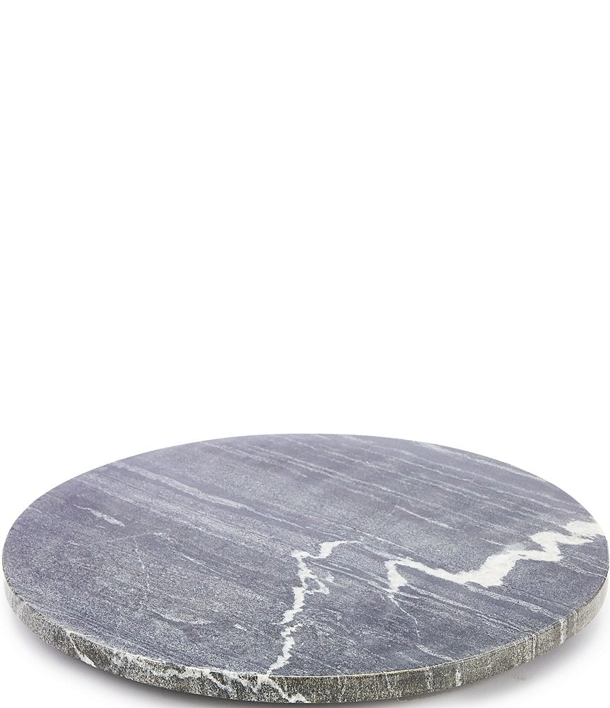 Southern Living Round Marble Cheese Board with Resin Feet