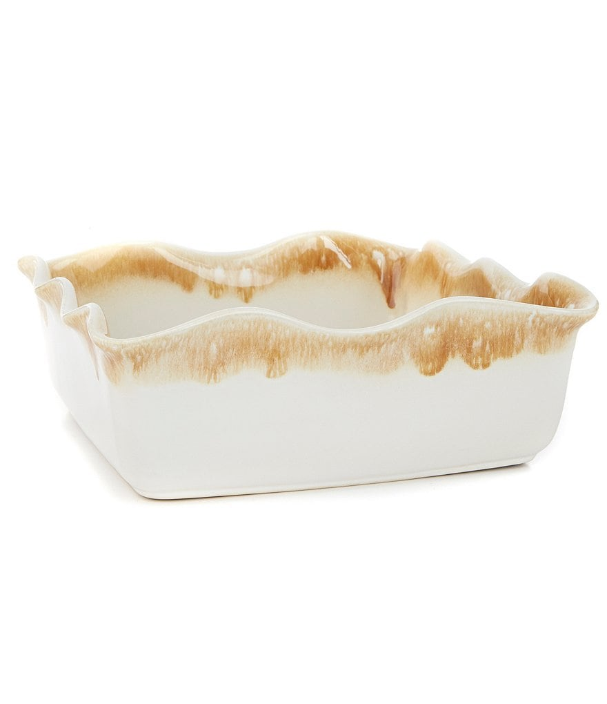 Southern Living Scalloped Stoneware Square Baker