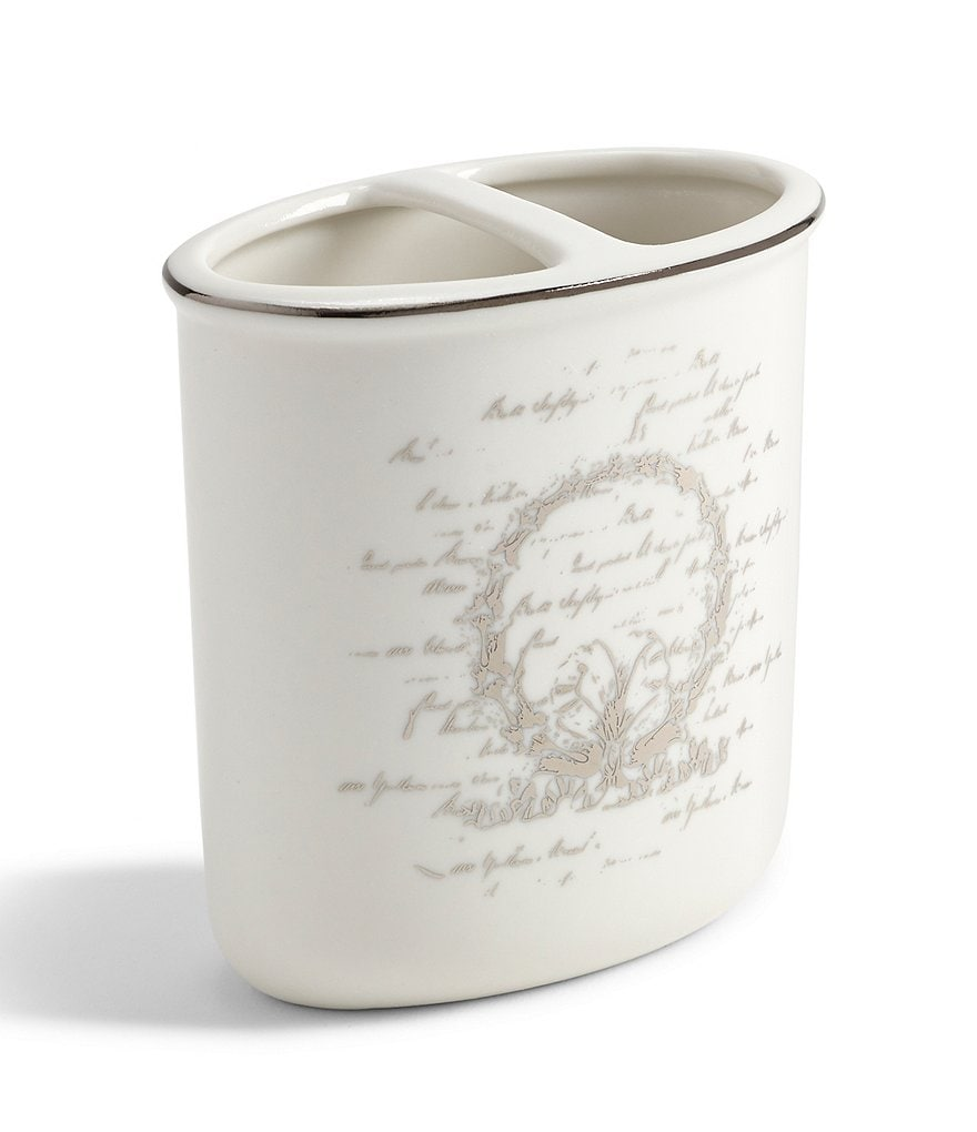 Southern Living Scroll Toothbrush Holder