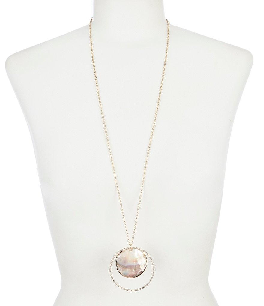 Southern Living Shell Hoop Pendant Necklace