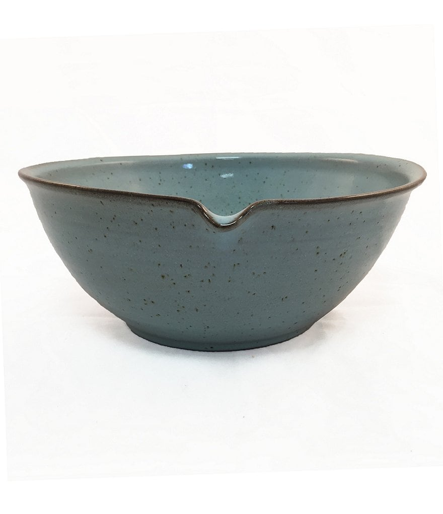 Southern Living New Nostalgia Collection Speckled Stoneware Bowl with Pour Spout