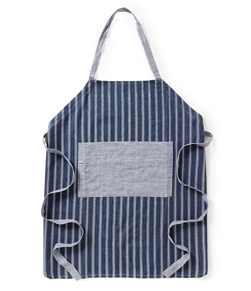 Southern Living Striped Denim Apron