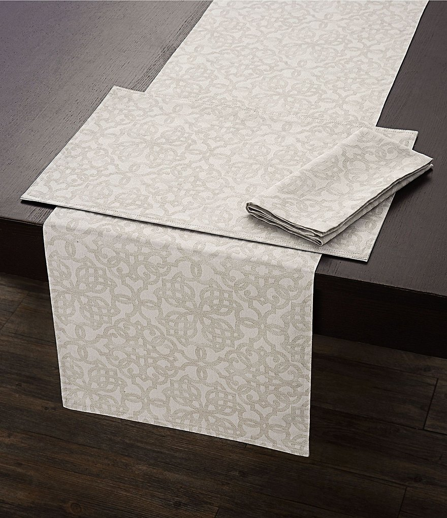Southern Living Tile-Print Table Linens