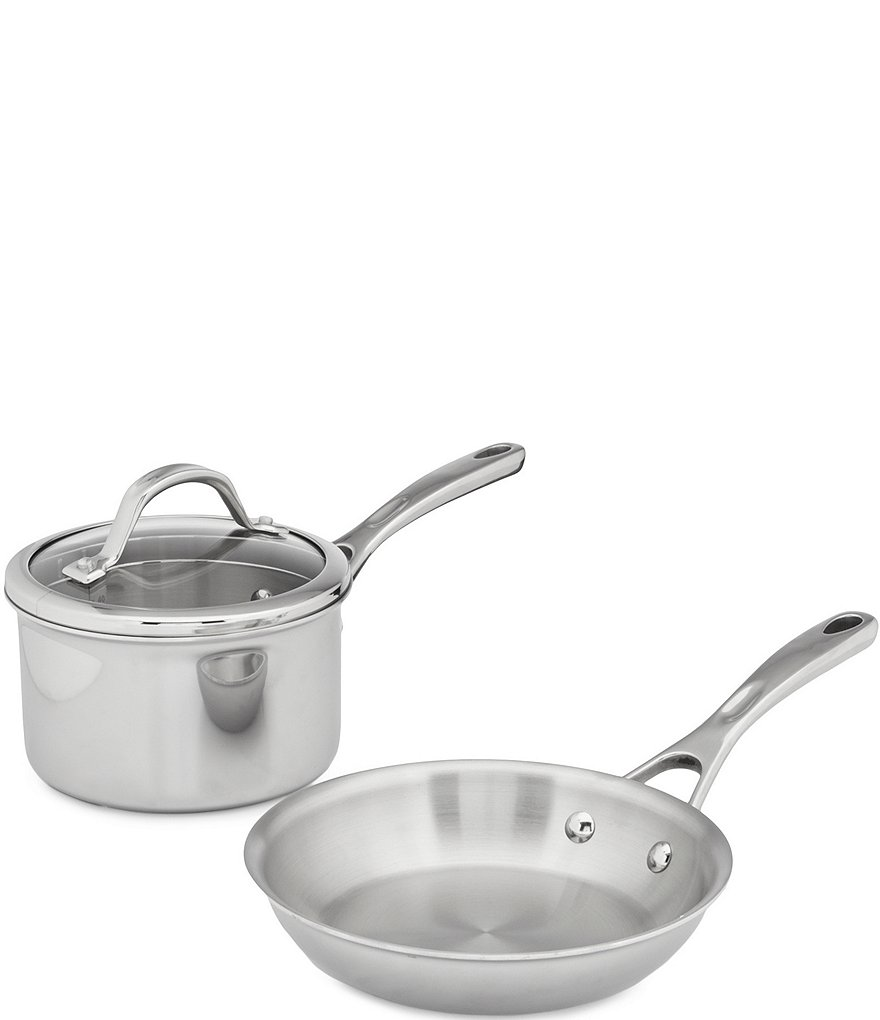 Southern Living Tri-Ply Clad Stainless Steel 3-Piece Cookware Set