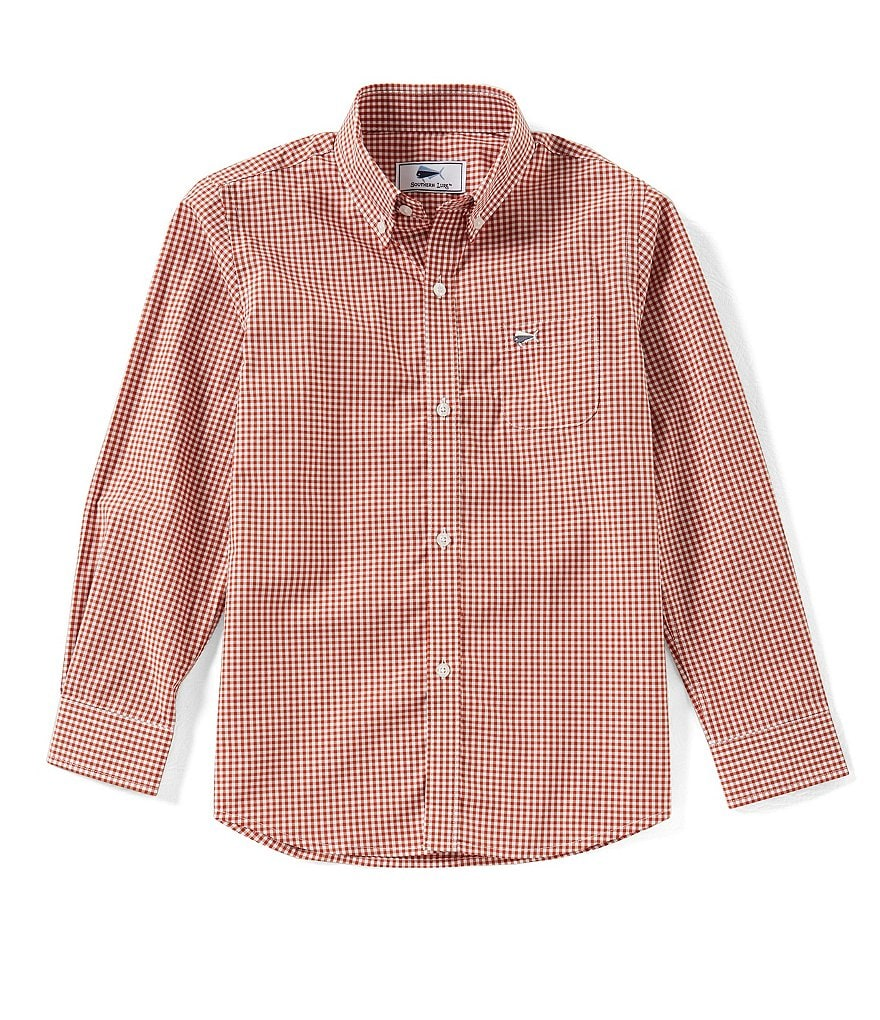 Southern Lure Big Boys 8-20 Checked Button-Down Long-Sleeve Shirt