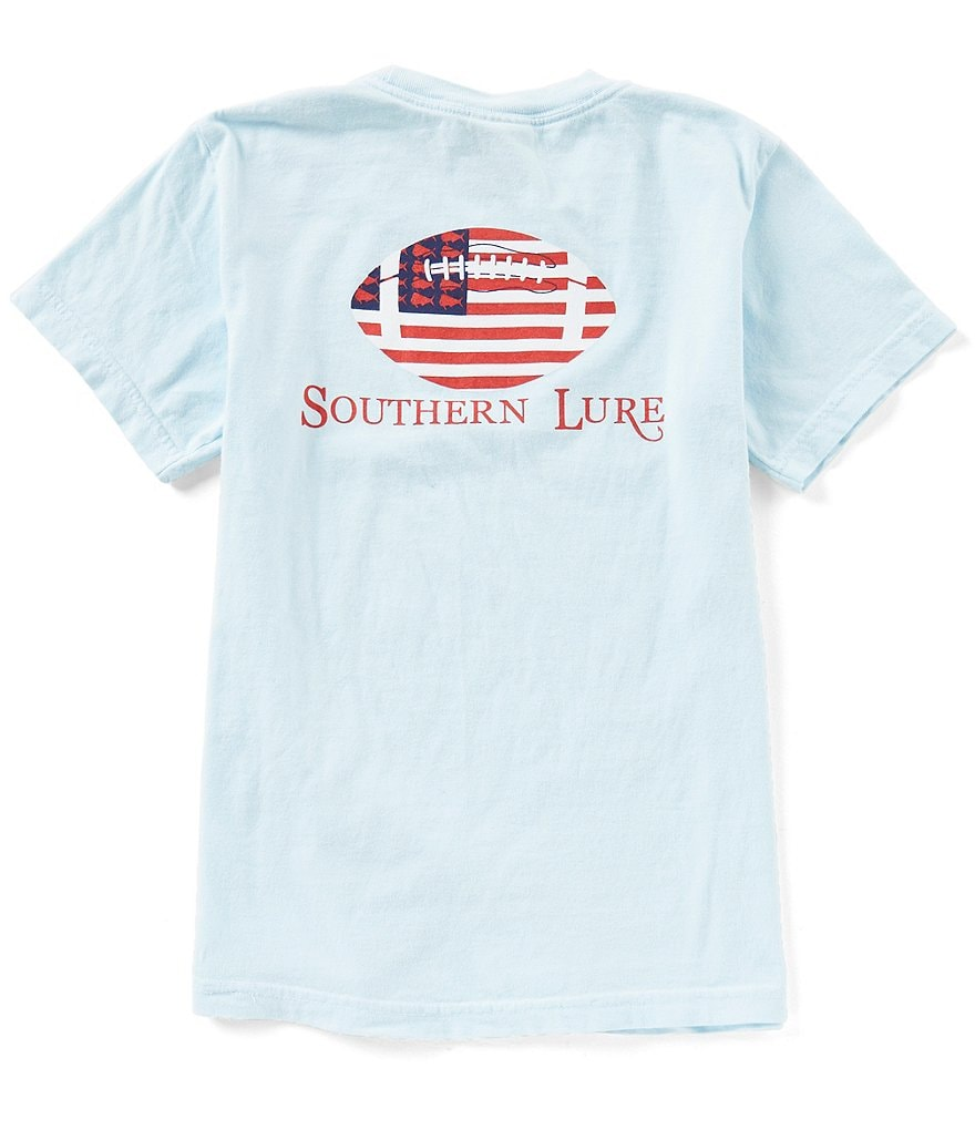 Southern Lure Big Boys 8-20 Patriotic Football Short-Sleeve Tee
